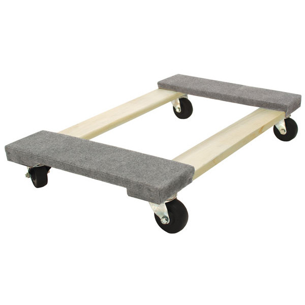 Carpeted 4-wheel dolly