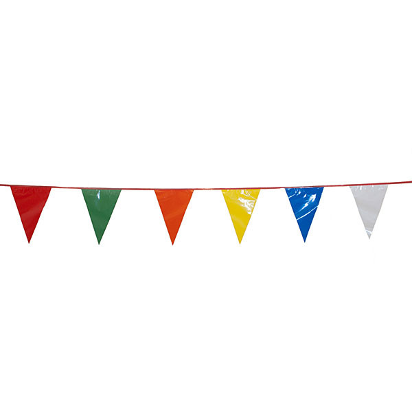 Nylon pennant 30' long - multi colored