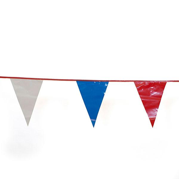 Nylon pennant 30' long - red/white/blue