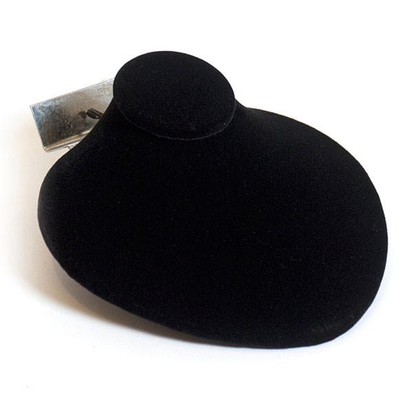 """Slatwall jewelry bust 4-3/4""""w x 4-5/8""""h x 2-1/8""""d - black"""