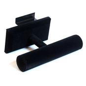 """Slatwall jewelry T-bar 7-1/2""""w x 4-7/8""""d - black"""