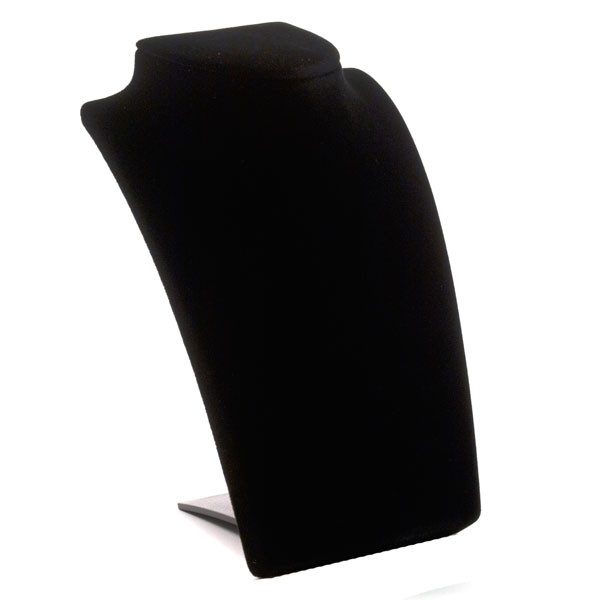 Neck Form with Retractable Stand - black velvet