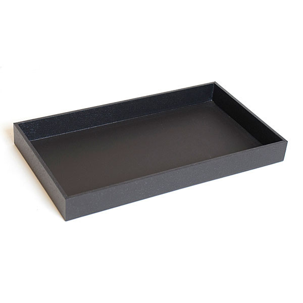 "Jewelry tray 1.5""dx14 3/4""x8 1/4"" - black"