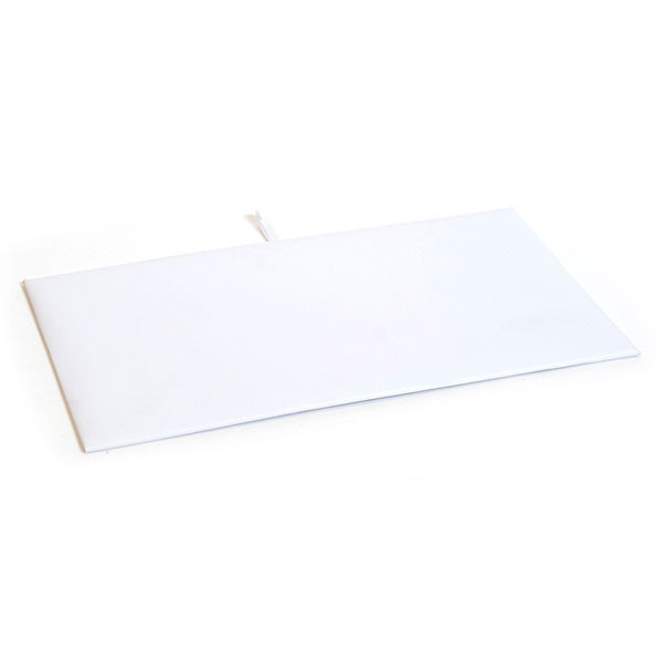 "Jewelry tray pad 14 1/8""x 7 5/8"" - white leatherette"
