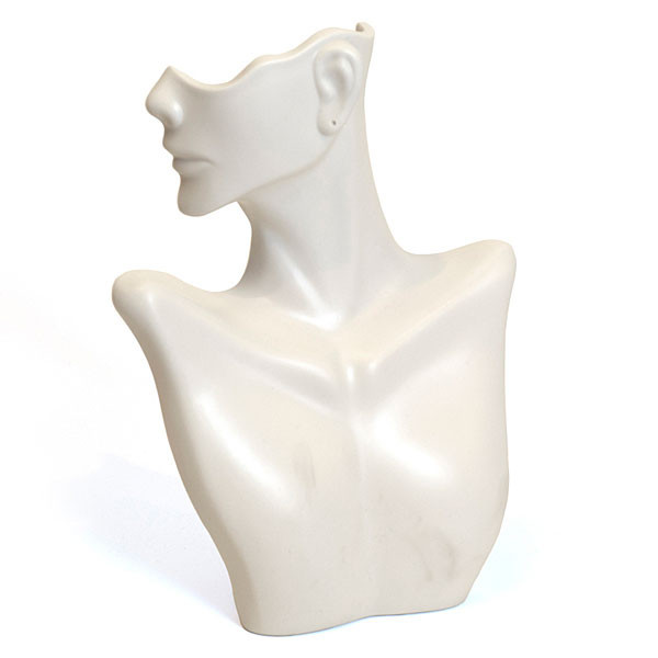 Earring/necklace display - Side partial face-white