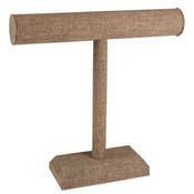 Jewelry T-bar 12 inch high - Burlap