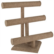 Jewelry T-bar 3-tier - Burlap