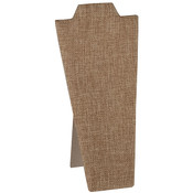 Economy Necklace display 8.25 inches high - Burlap