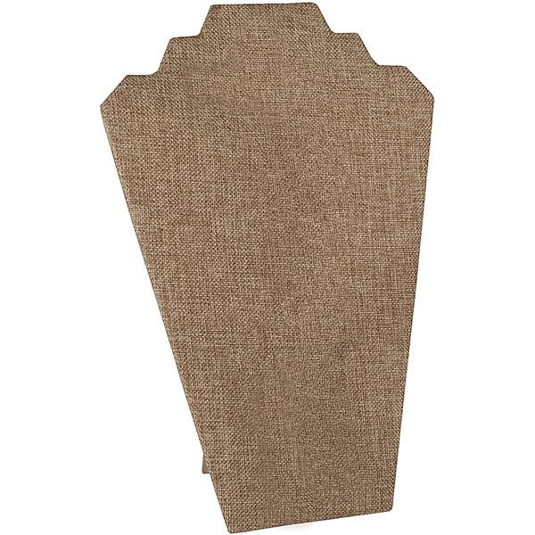Economy Necklace display 12 inches high - Burlap