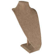 Neck Form 17.5 inches high - Burlap