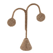 Earring stand tree shaped - Burlap