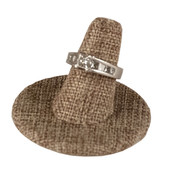 Single ring round base display - burlap