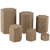 Hexagon Shape Riser Set - burlap