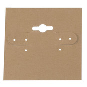 Earring card 2w x 2h - tan 100 cards