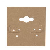 Earring card 1-1/2w x 1-1/2h - tan
