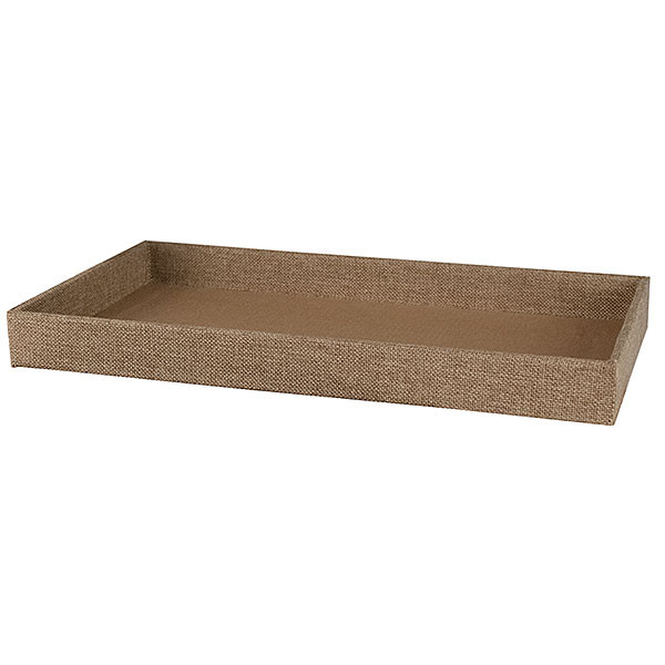 Jewerly Tray - 1.5 inches high - burlap