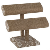 Jewelry T-bar 2-tier - Burlap & Lace