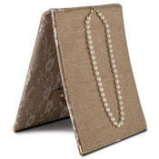 Necklace/Mirror Folio - Burlap & Lace