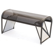 Shoe bench w/ mirrored ends