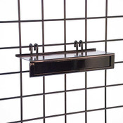 Shoe Shelf for Gridwall - Black Metal