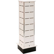 Small Shoe Tower Display - White - 12w x 12d x 54h