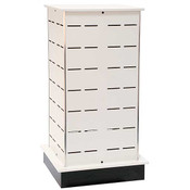 Large Shoe Tower Display - White - 28w x 24d x 54h