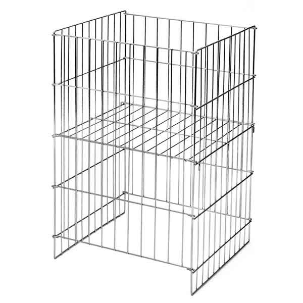 "Wire dump basket 17""x18""x30""high - chrome"