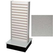 2 sided Slatwall Unit - Brushed Aluminum