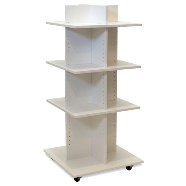 "Shelf Tower Knock-Down White 54""H X 24""Sq."