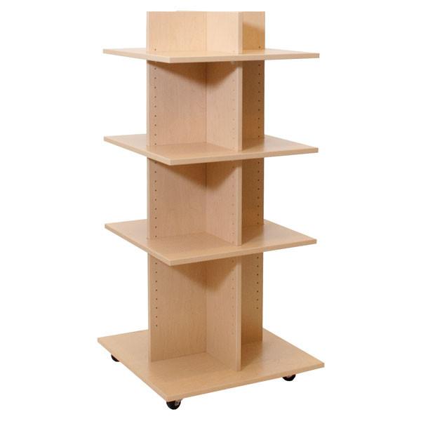 "Shelf Tower Knock-Down Maple 54""H X 24""Sq."