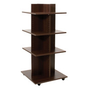 "Shelf Tower Knock-Down Chocolate Cherry 54""H X 24""Sq."