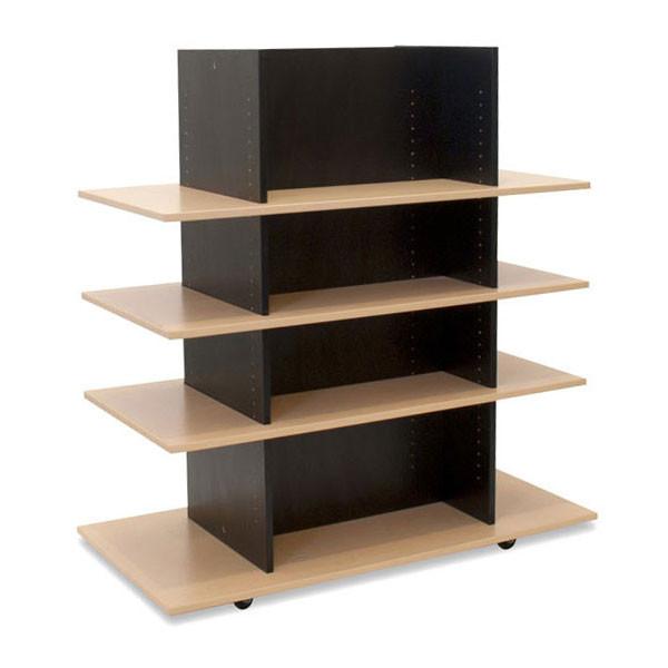 MerchandiserKnock-Down Black W/ 3 Maple Shelves