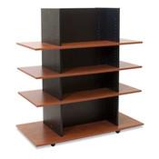 MerchandiserKnock-Down Black W/ 3 Cherry Shelves