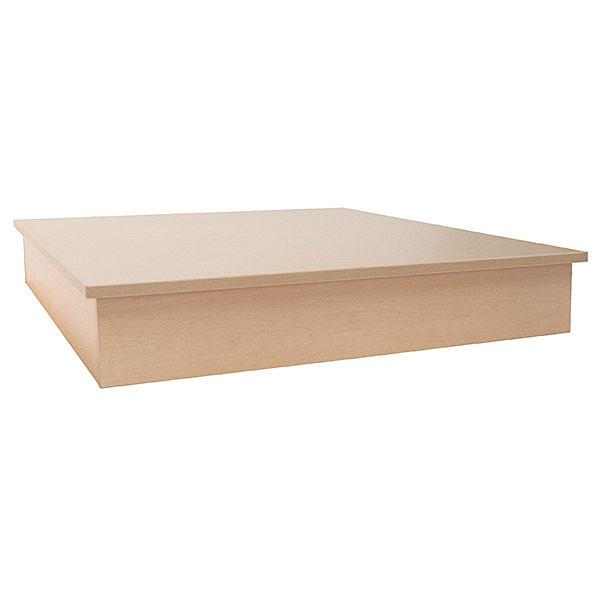 Display Pedestal Base - 48 inch square - Maple