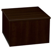 "Knock down pedestal square - chocolate cherry 18""x18""x12""h"