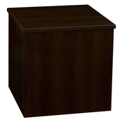 "Knock down pedestal square - chocolate cherry 18""x18""x18""h"