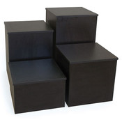 """Knock down pedestal square - black 18""""x18""""x18""""h"""