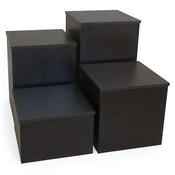 """Knock down pedestal square - black 18""""x18""""x30""""h"""