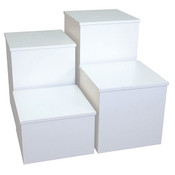 "Knock down pedestal square - white 18""x18""x18""h"