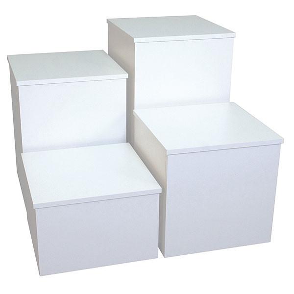 """Knock down pedestal square - white 18""""x18""""x24""""h"""