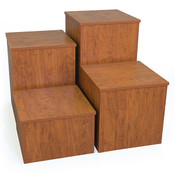 "Knock down pedestal square - cherry 18""x18""x30""h"