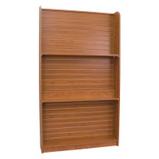 """Wall book case 48""""w x 84""""h x 12""""d 3""""OC adjustable spacing - cherry"""