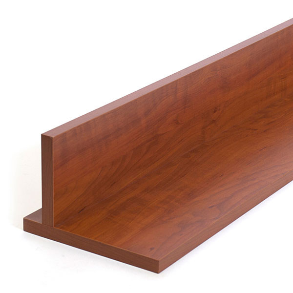 """T-shelf 8""""x46-1/2"""" for adjustable bookcase - cherry"""
