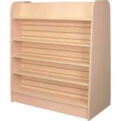 "Gondola book unit 48""w x 54""h x 24""d 3""OC slatwall for adjustable shelves - maple"