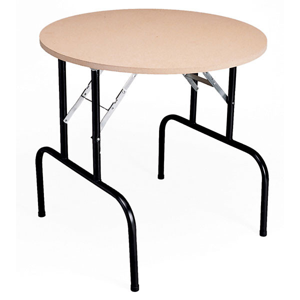 """Display table with folding legs 36""""diameter x 29"""" high - particleboard top"""
