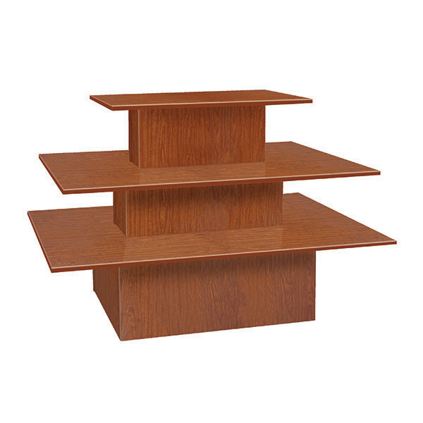 3-tier table rectangle - cherry