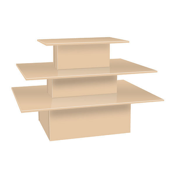 3-tier table rectangle - maple