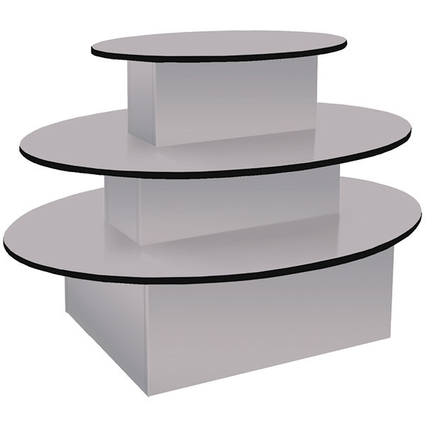 3-tier table, oval 60