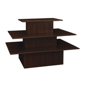 3-tier table rectangle - chocolate cherry