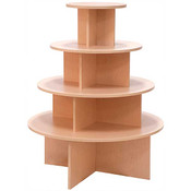 4-tier round table - maple melamine